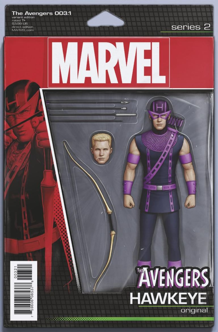 Avengers #3.1 (John Tyler Christopher Action Figure Variant Cover)