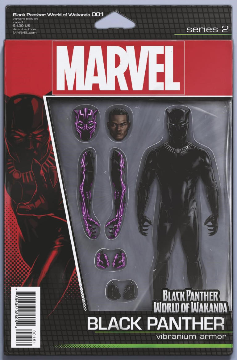 Black Panther World of Wakanda #1 (John Tyler Christopher Action Figure Black Panther Variant Cover)