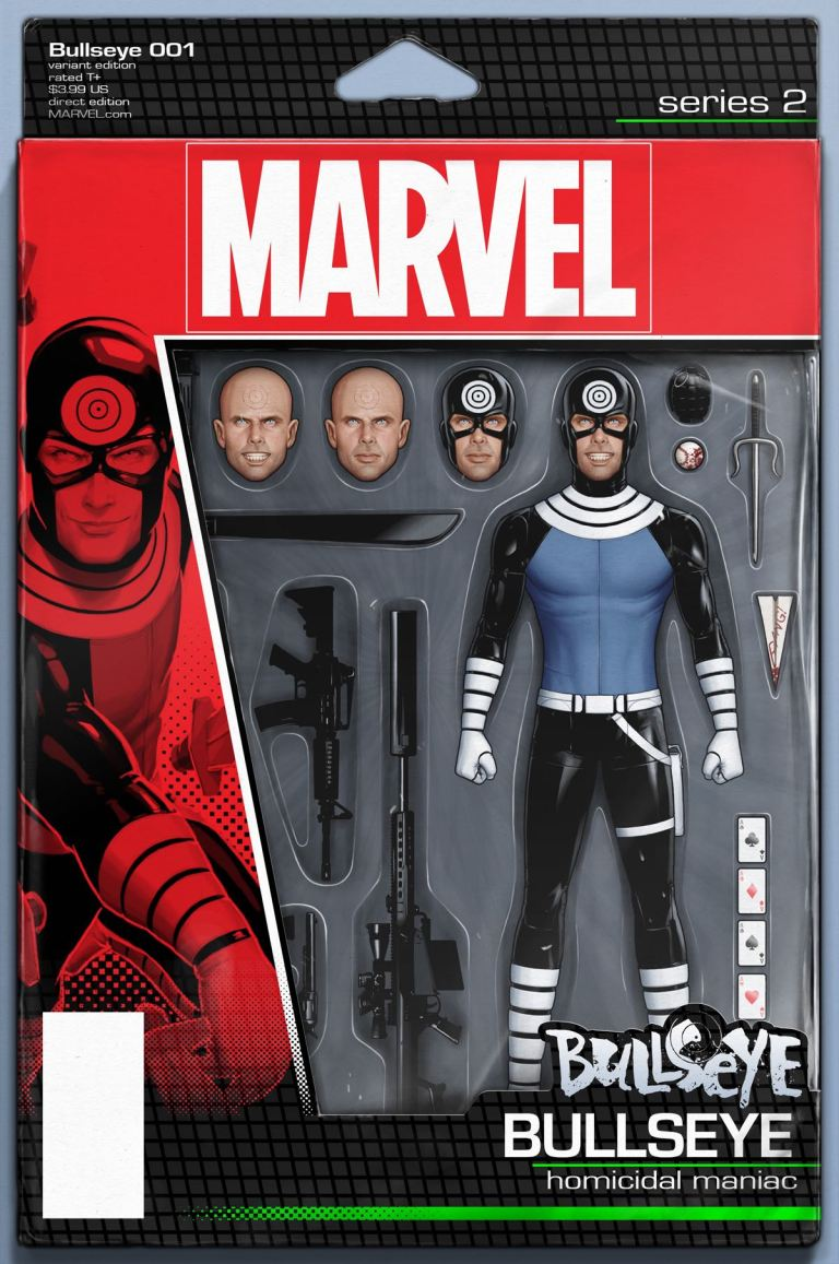 Bullseye #1 (John Tyler Christopher Action Figure Variant Cover)
