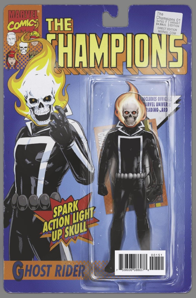 Champions #1 (John Tyler Christopher Classic Action Figure Variant Cover)