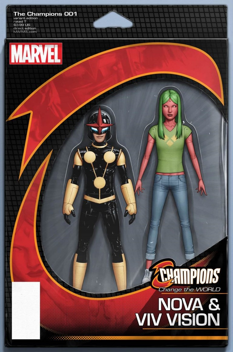 Champions #1 (John Tyler Christopher Marvel NOW Action Figure Variant Cover)