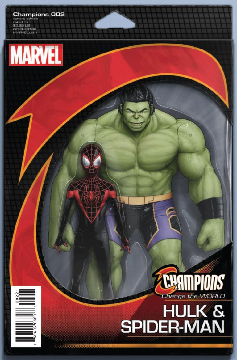 Champions #2 (John Tyler Christopher Classic Action Figure Miles Hulk Variant Cover)