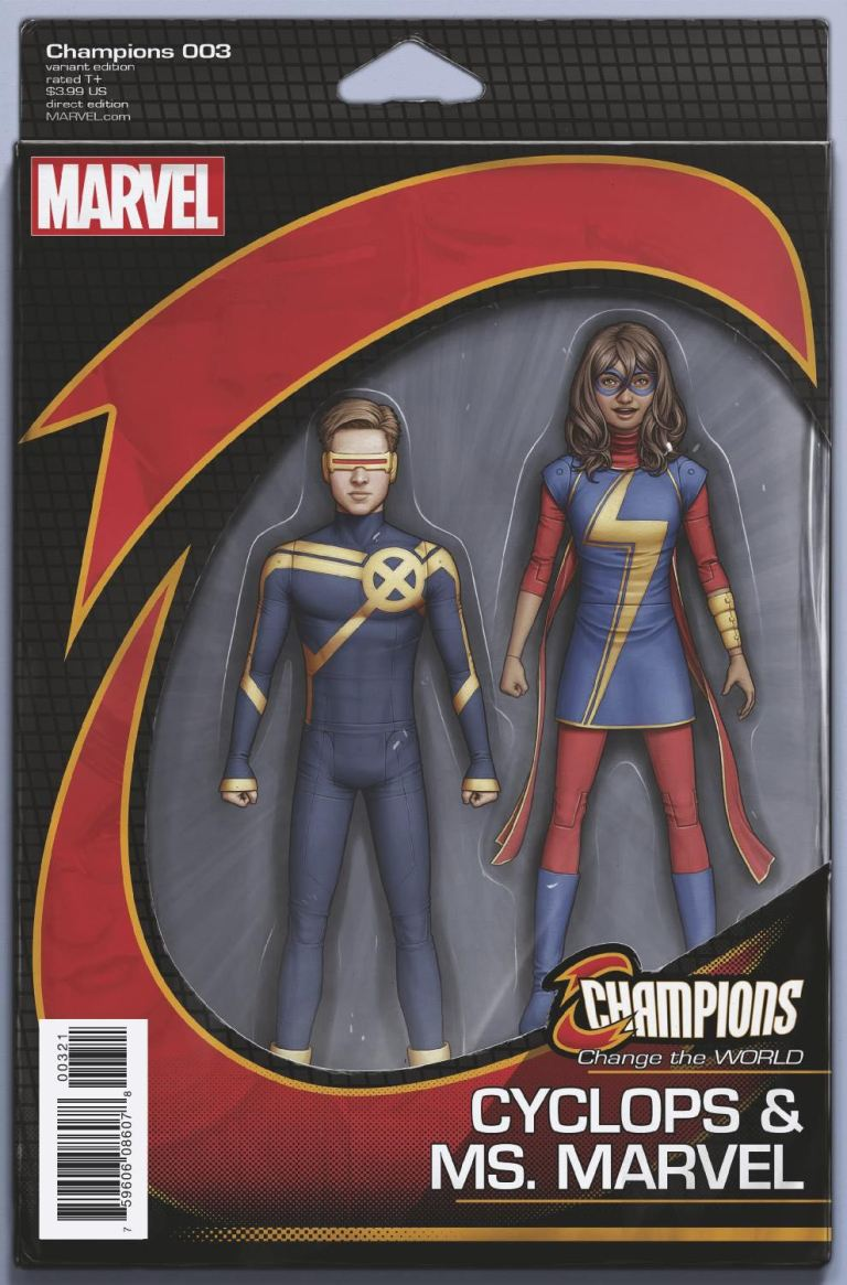 Champions #3 (John Tyler Christopher Classic Action Figure Variant Cover)