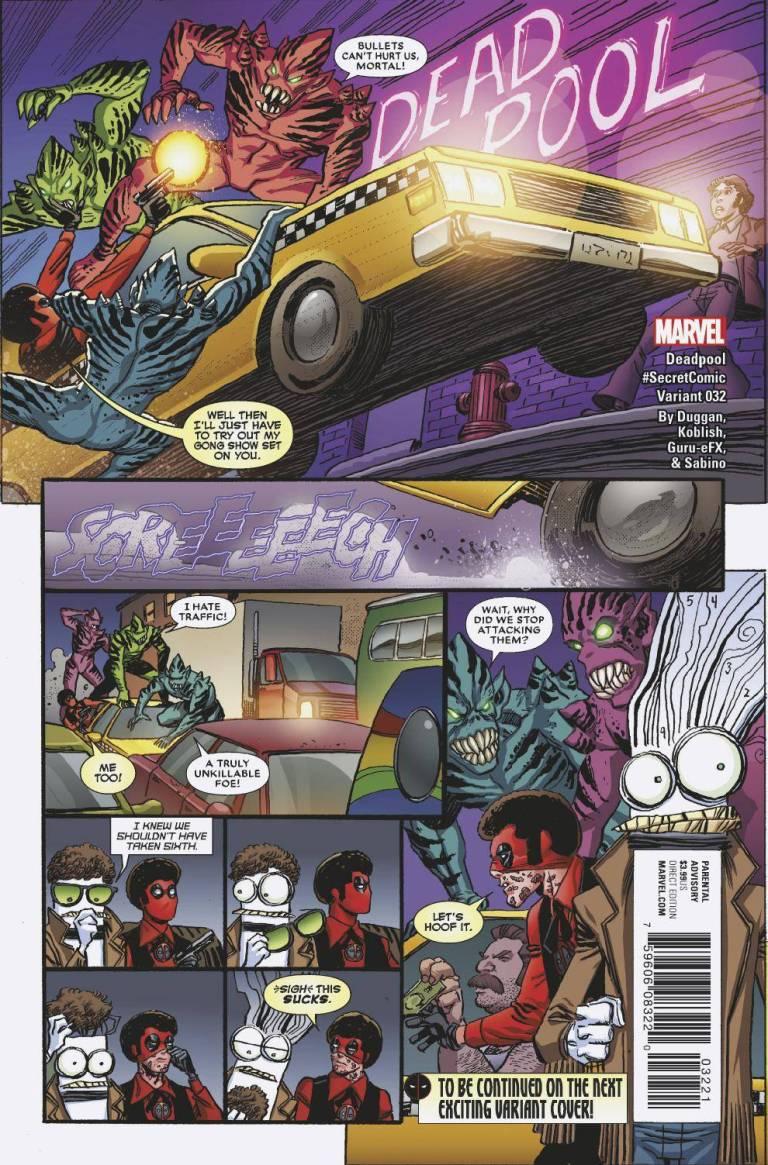 Deadpool #32 (Cover B Scott Koblish Secret Comics Variant)