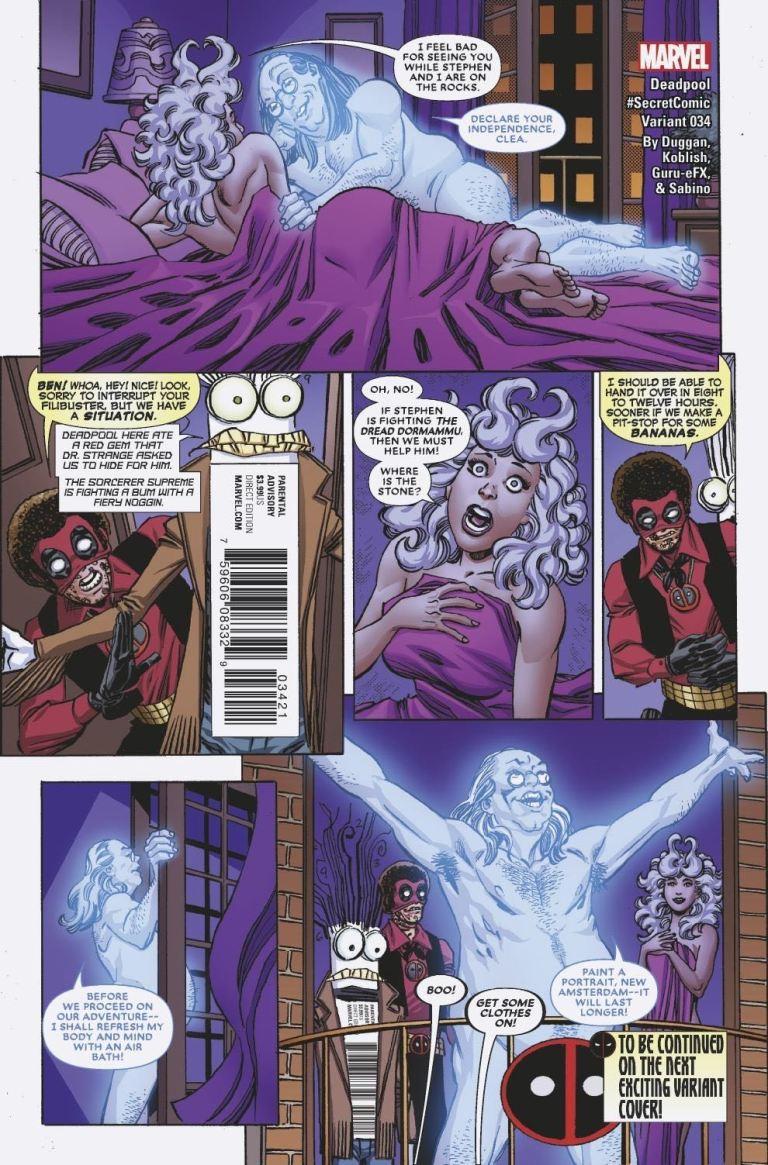 Deadpool #34 (Cover B Scott Koblish Secret Comics Variant)