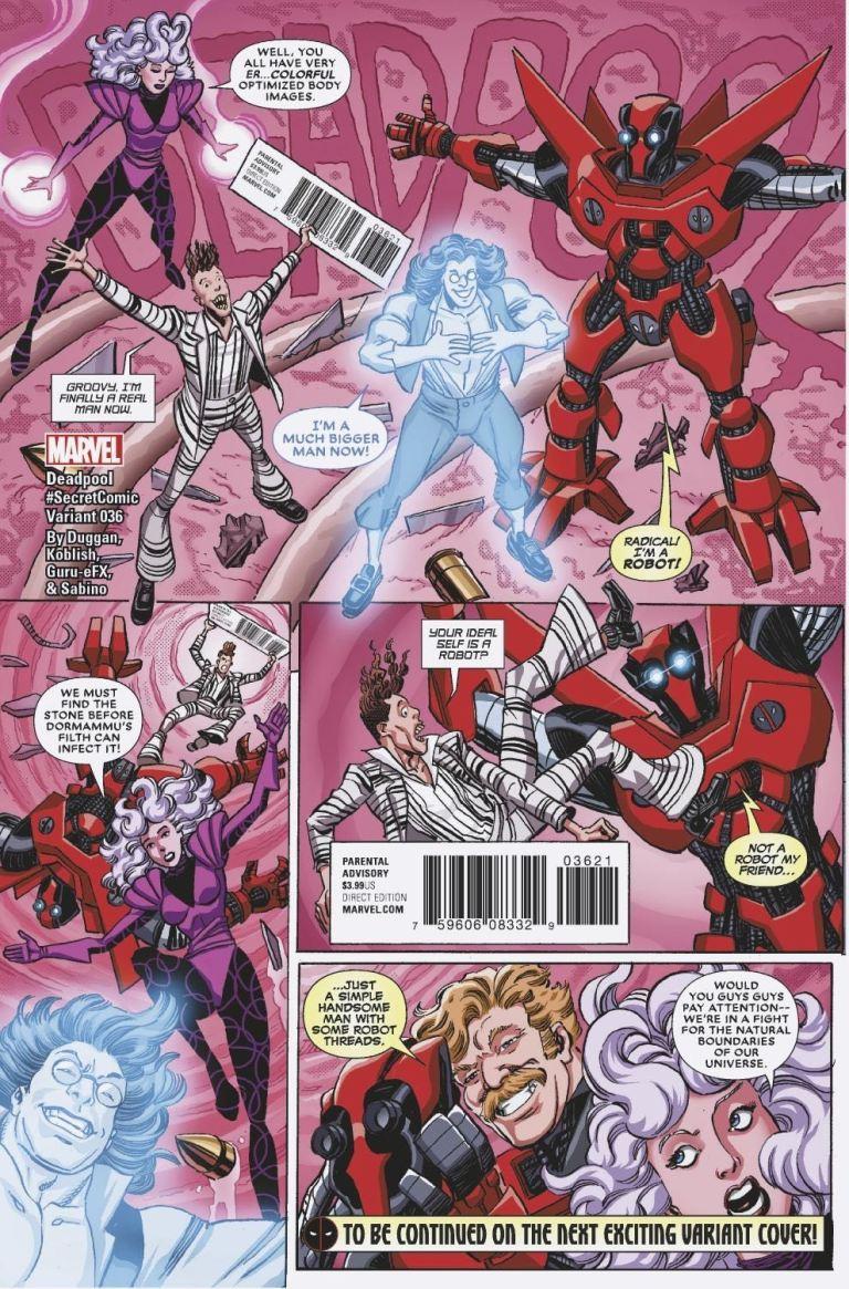 Deadpool #36 (Cover B Scott Koblish Secret Comic Variant)