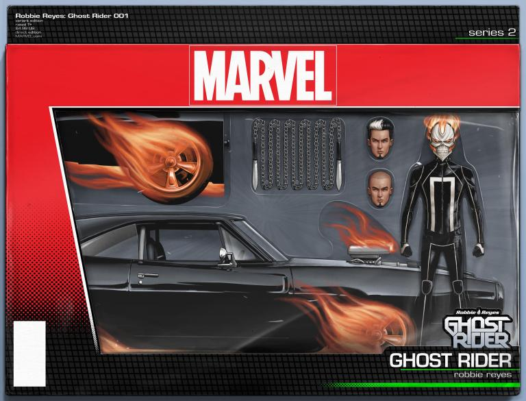 Ghost Rider #1 (John Tyler Christopher Action Figure Ghost Rider With Car Variant Cover)