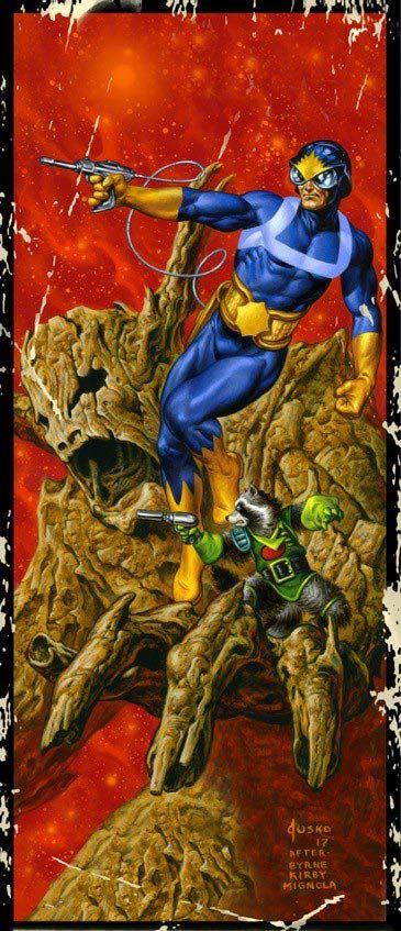 Guardians Of The Galaxy #17 (Cover C Joe Jusko Corner Box Variant)