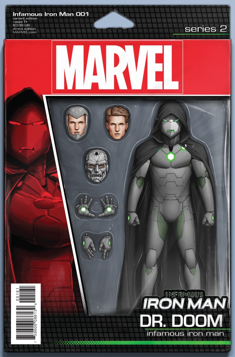 Infamous Iron Man #1 (John Christopher Action Figure Variant Cover)