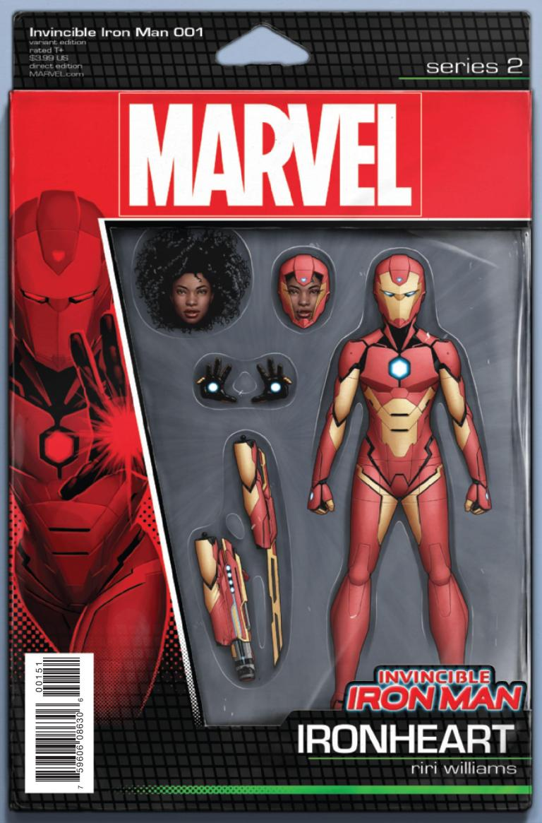 Invincible Iron Man #1 (John Tyler Christopher Action Figure Riri Variant Cover)