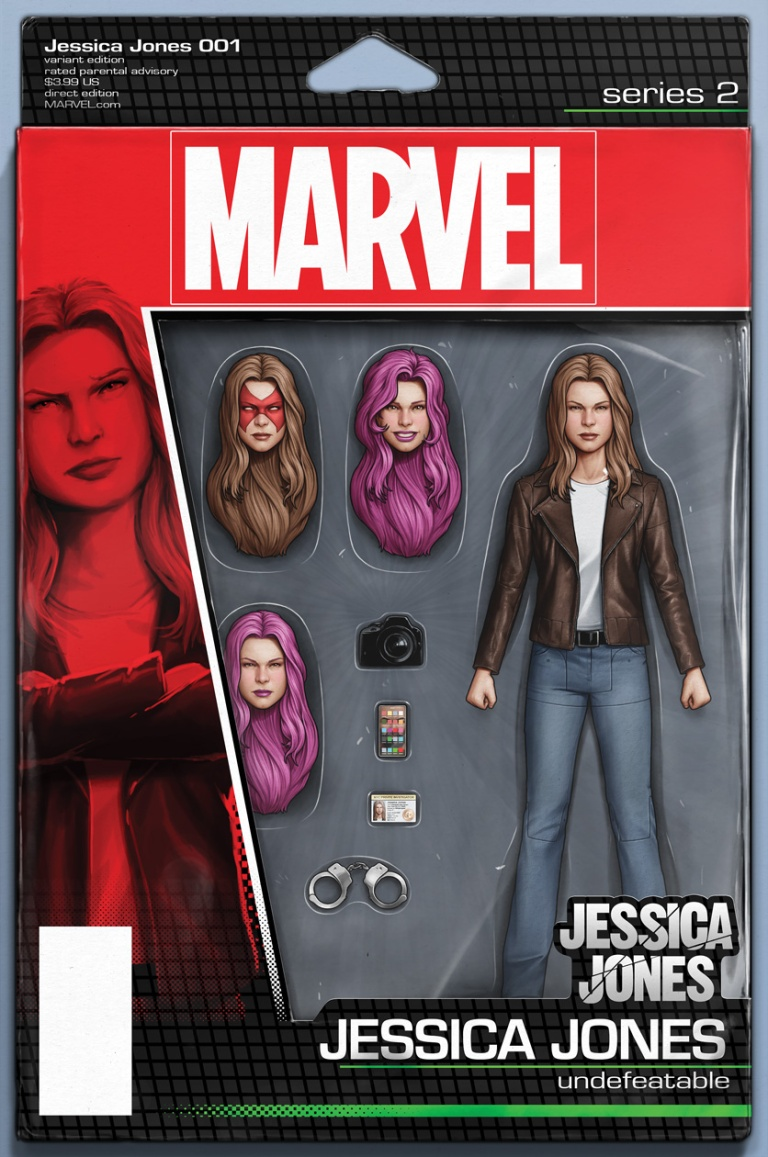 Jessica Jones #1 (John Tyler Christopher Action Figure Variant Cover)