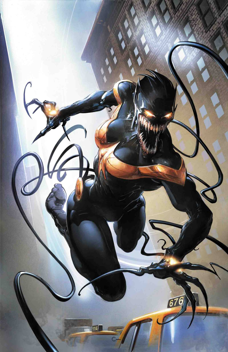 Mighty Captain Marvel #3 (Clayton Crain Venomized Variant Cover)