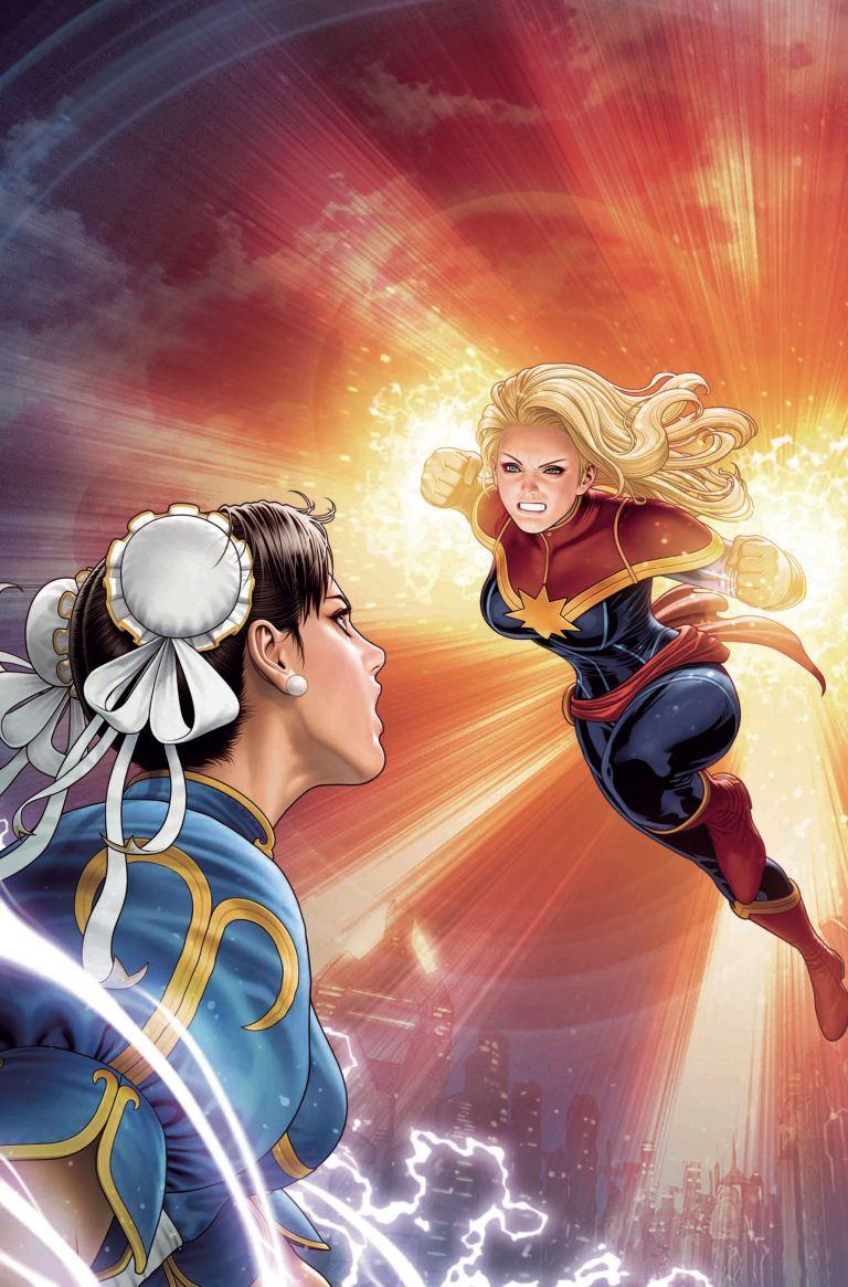 Mighty Captain Marvel #8 (Cover B Shinkiro Marvel Vs Capcom Variant)