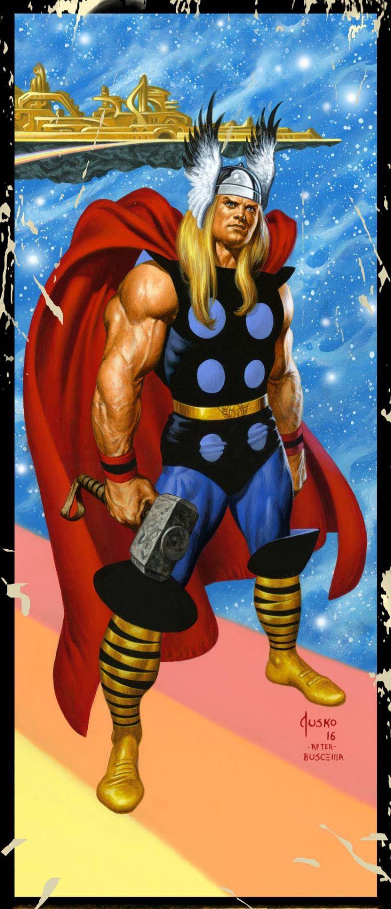 Mighty Thor #16 (Cover B Joe Jusko Corner Box Variant)