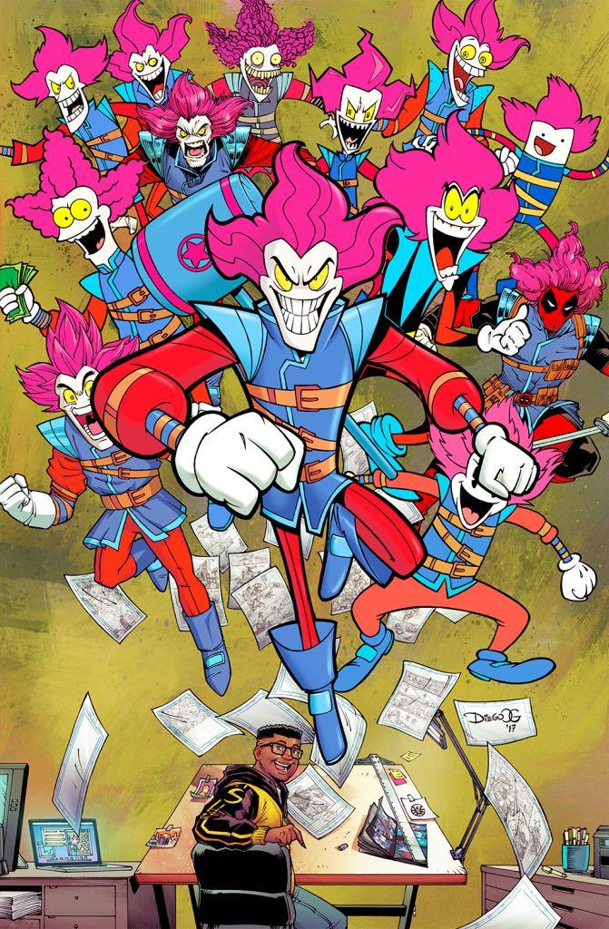 Slapstick #3 (Diego Olortegui Variant Cover)