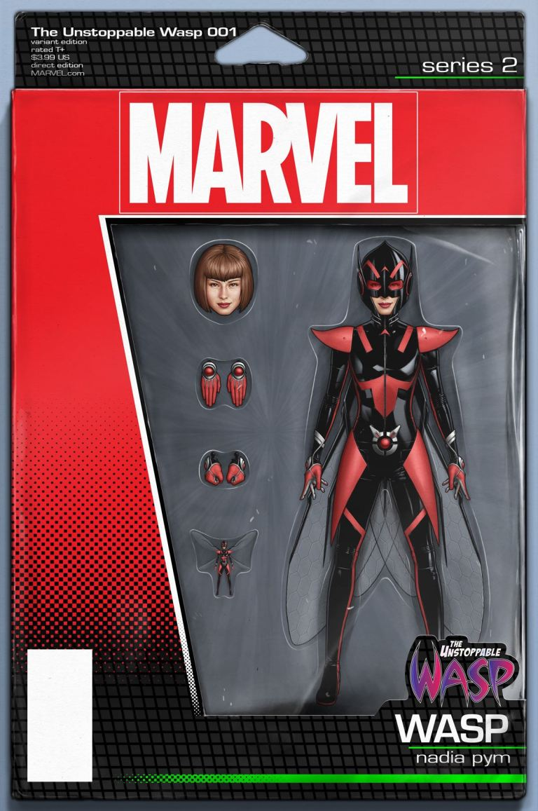 Unstoppable Wasp #1 (John Tyler Christopher Action Figure Variant Cover)