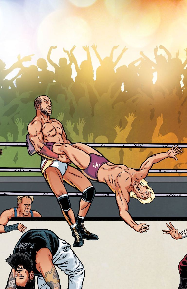 WWE #2 (Cover F Brent Schoonover Royal Rumble Connecting Variant)