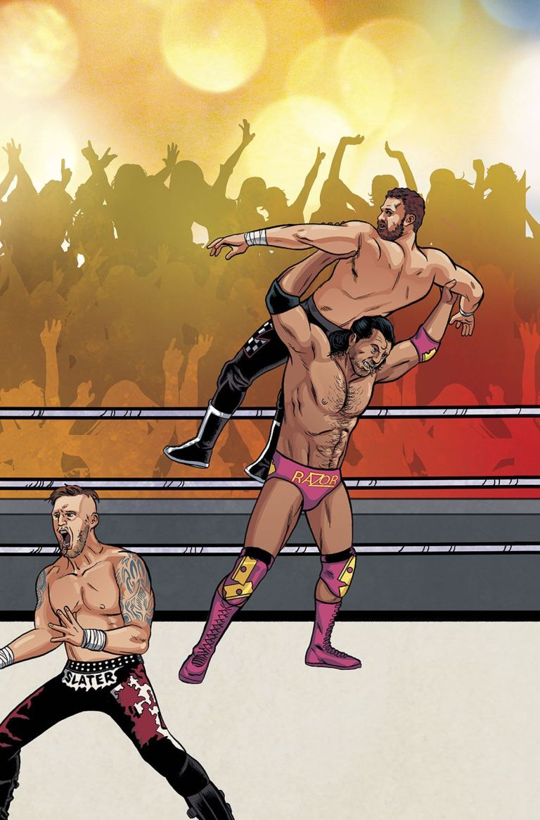 WWE #3 (Cover F Brent Schoonover Royal Rumble Connecting Variant)