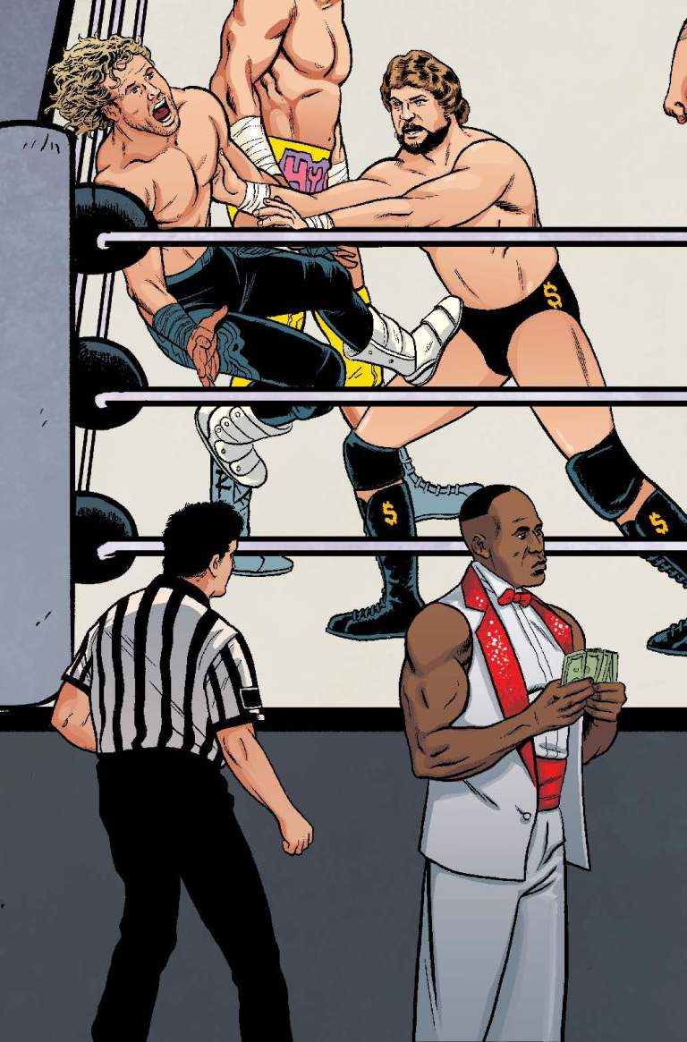 WWE #7 (Cover E Brent Schoonover Royal Rumble Connecting Variant)