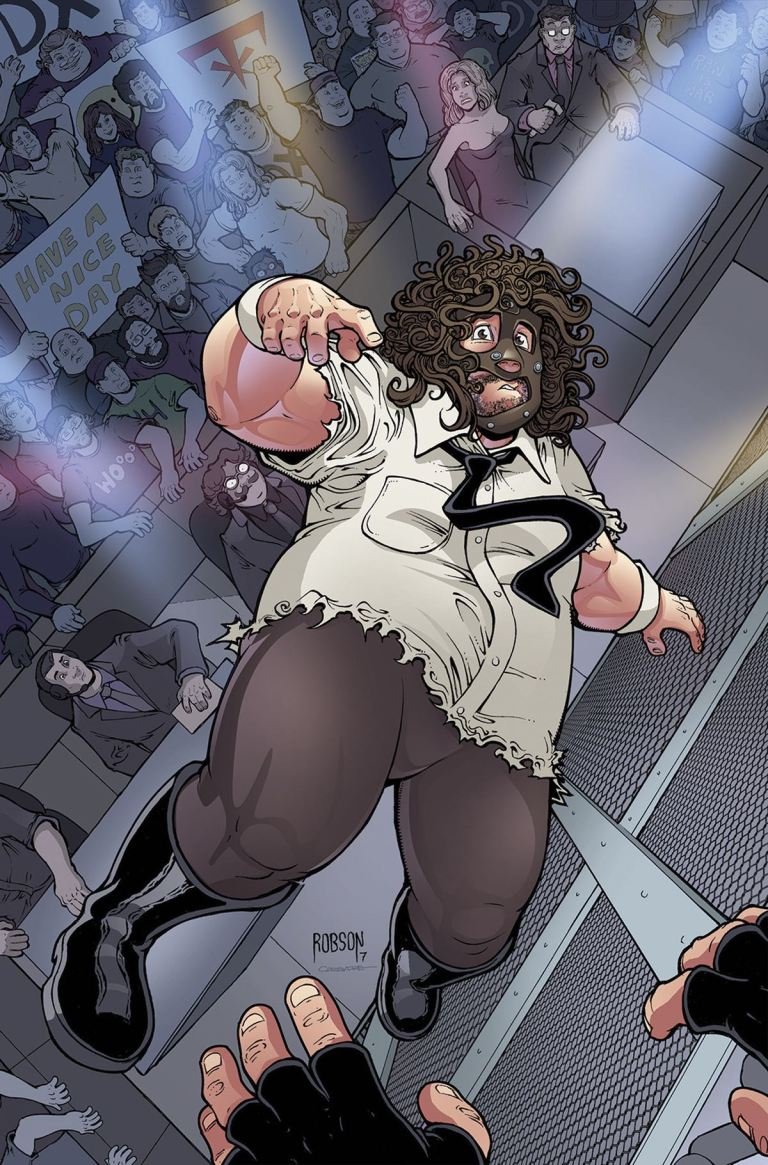 WWE #8 (Cover C Will Robson Mankind Variant)