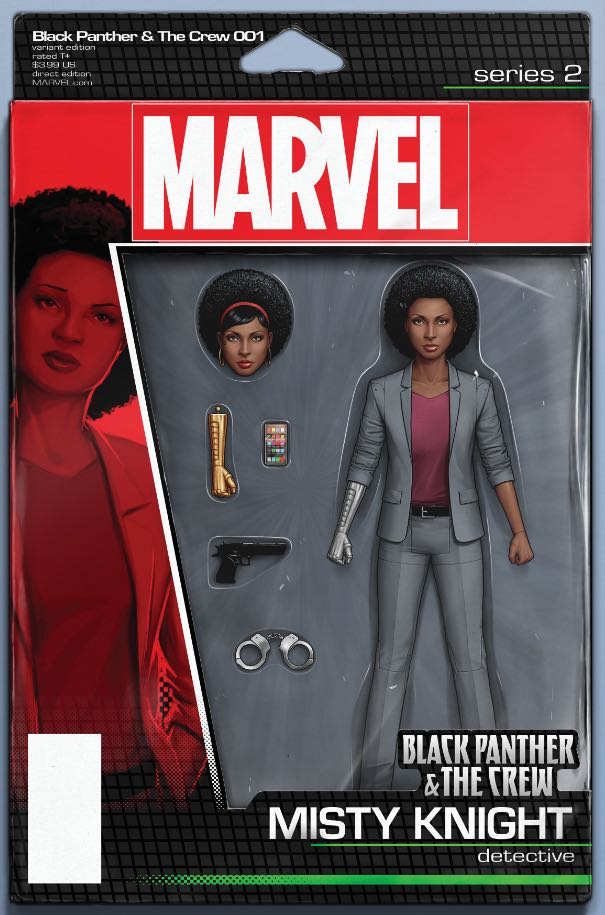 Black Panther The Crew #1 (Cover E John Tyler Christopher Action Figure Variant)