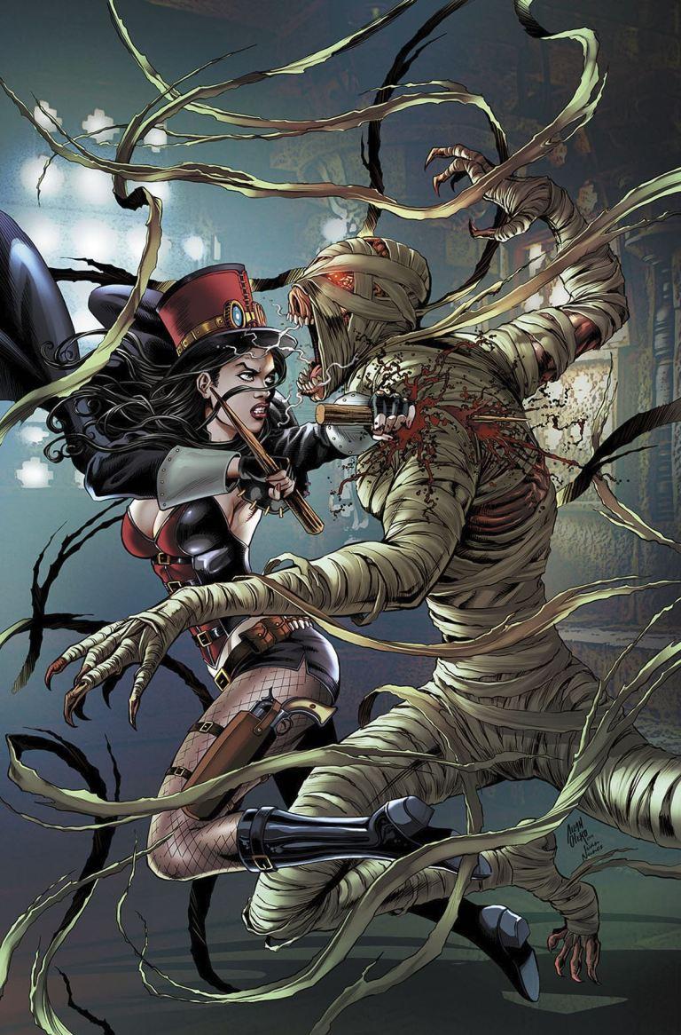 Grimm Fairy Tales Van Helsing vs. The Mummy of Amun Ra #1 (Cover B Allan Otero)