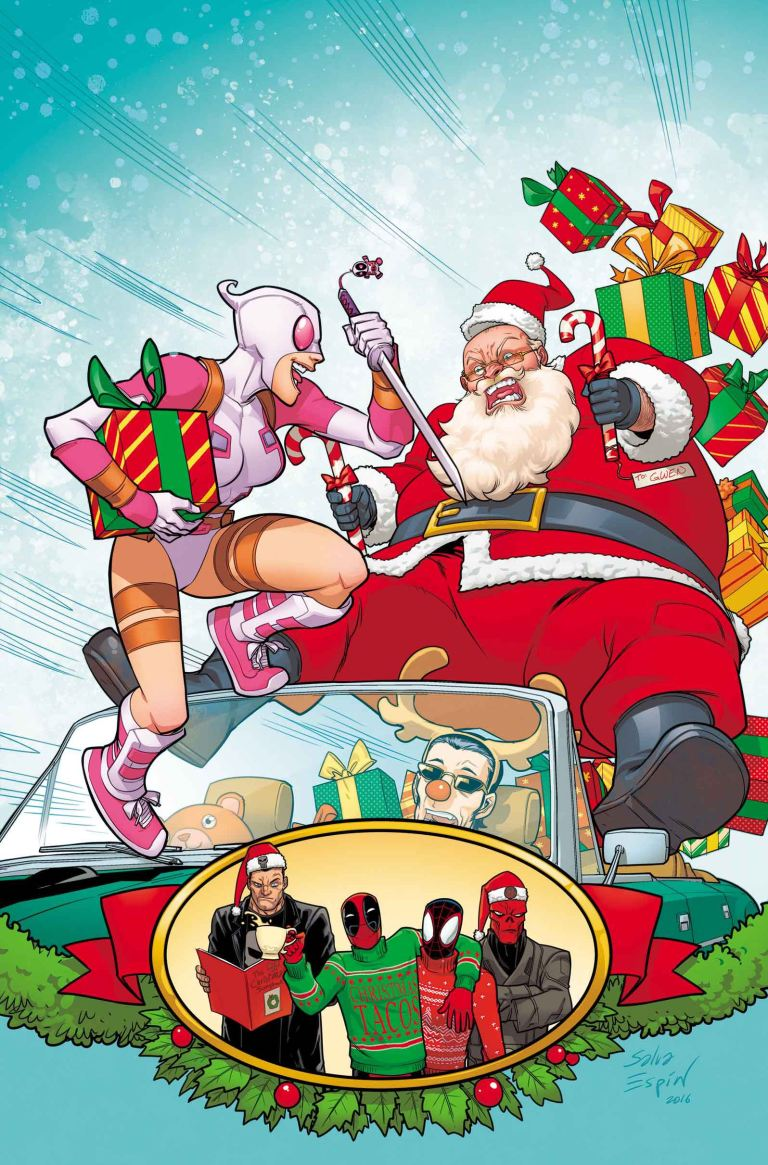 Gwenpool Holiday Special Merry-Mix Up #1 (Salva Espin Regular Cover)