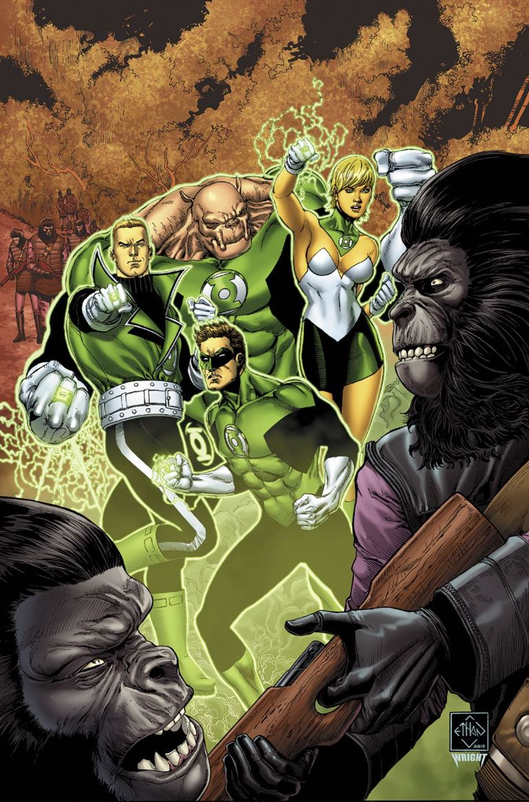 Planet Of The Apes Green Lantern #2 (Cover A Ethan Van Sciver)