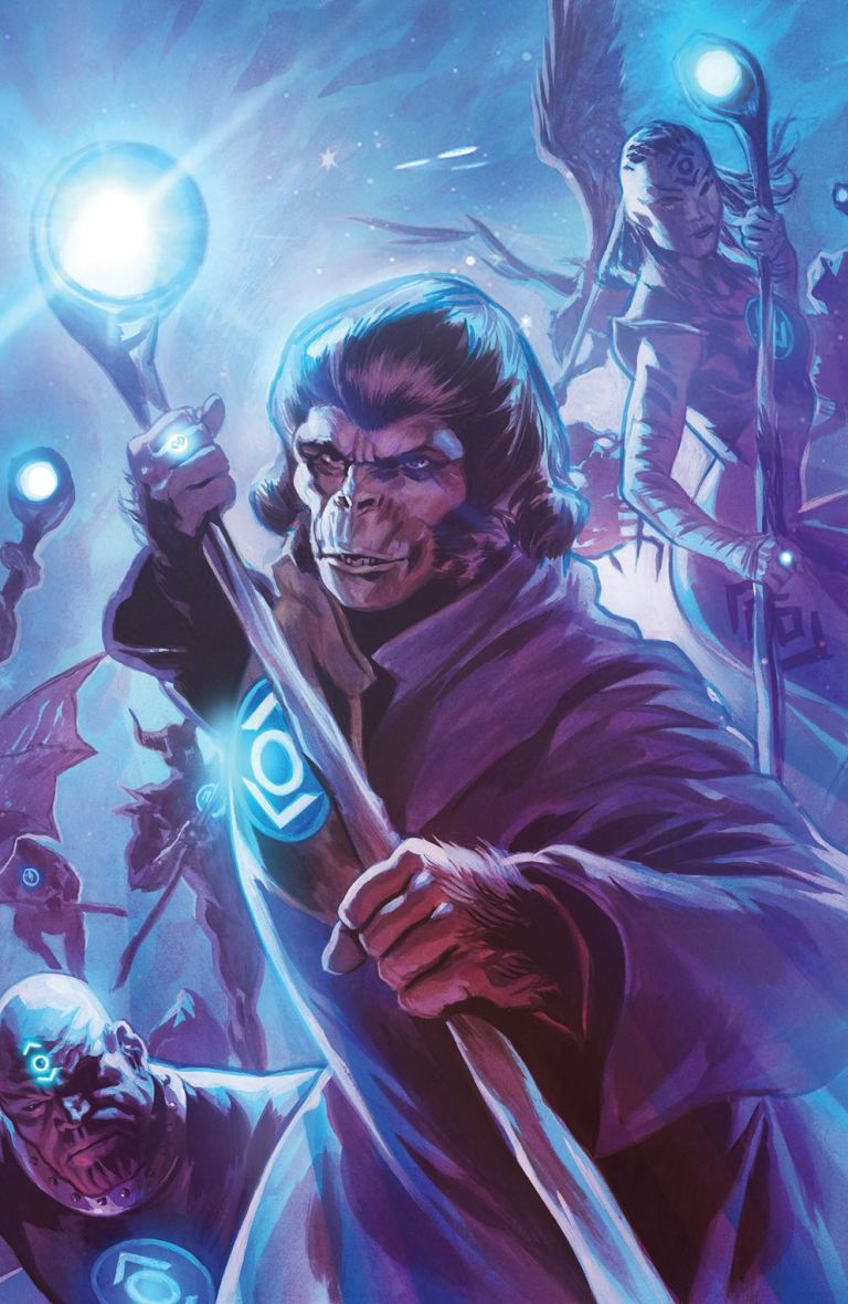 Planet Of The Apes Green Lantern #5 (Cover D Felipe Massafera Spectrum Variant)