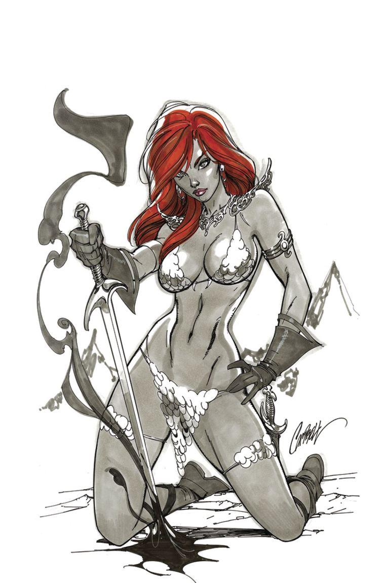 Red Sonja #1 (Cover K J. Scott Campbell Virgin Variant Cover)