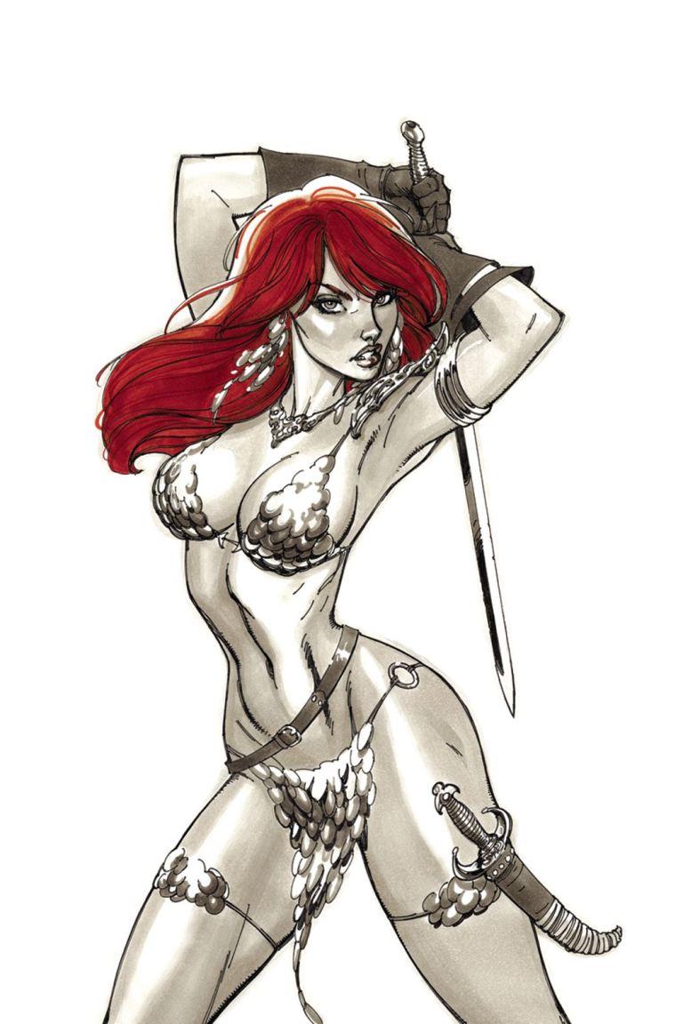 Red Sonja #2 (Cover H J. Scott Campbell Virgin Variant)