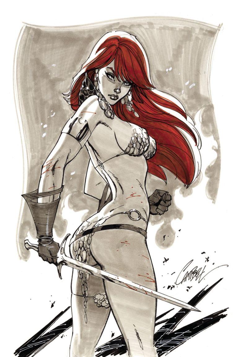 Red Sonja #3 (Cover I J. Scott Campbell Virgin Variant)
