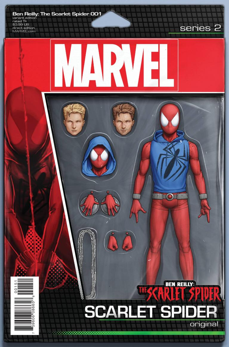 Ben Reilly The Scarlet Spider #1 (Cover E John Tyler Christopher Action Figure Variant)