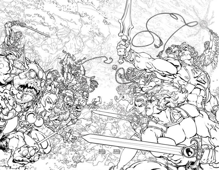 He-Man Thundercats #1 (Cover B Freddie E. Williams II - Coloring Book Variant)