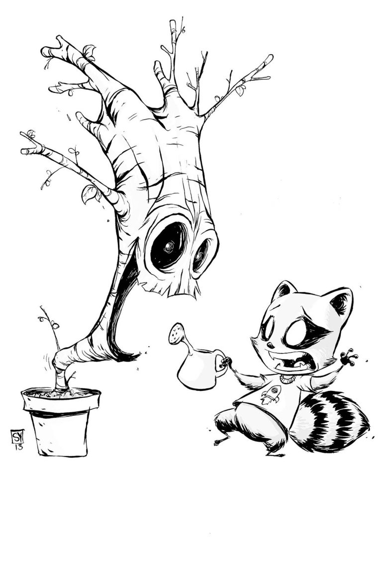 I Am Groot #1 (Cover E Skottie Young Black & White Variant)