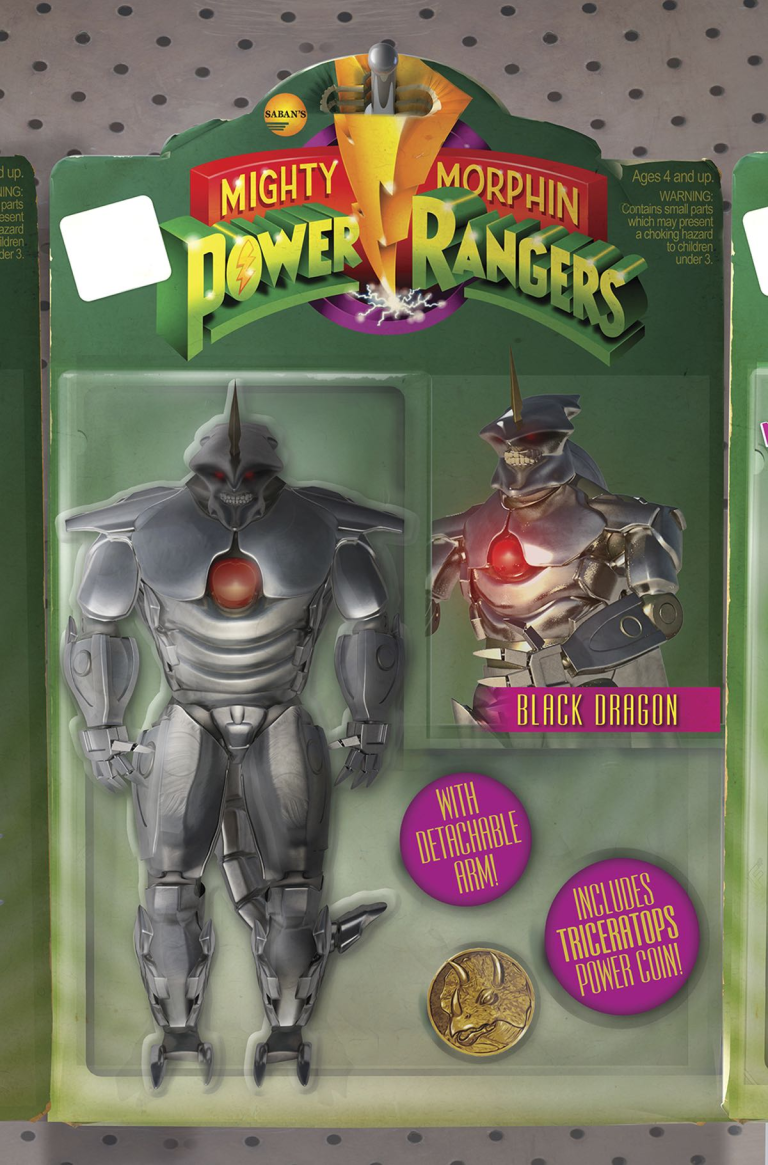 Mighty Morphin Power Rangers #14 (Cover D Telmos Santos Action Figure Variant)