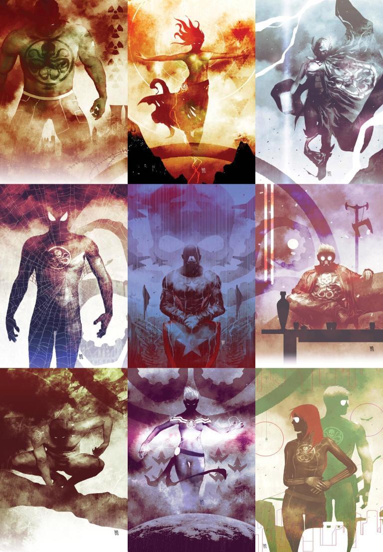 Secret Empire #10 (Cover G Andrea Sorrentino Hydra Heroes Variant)