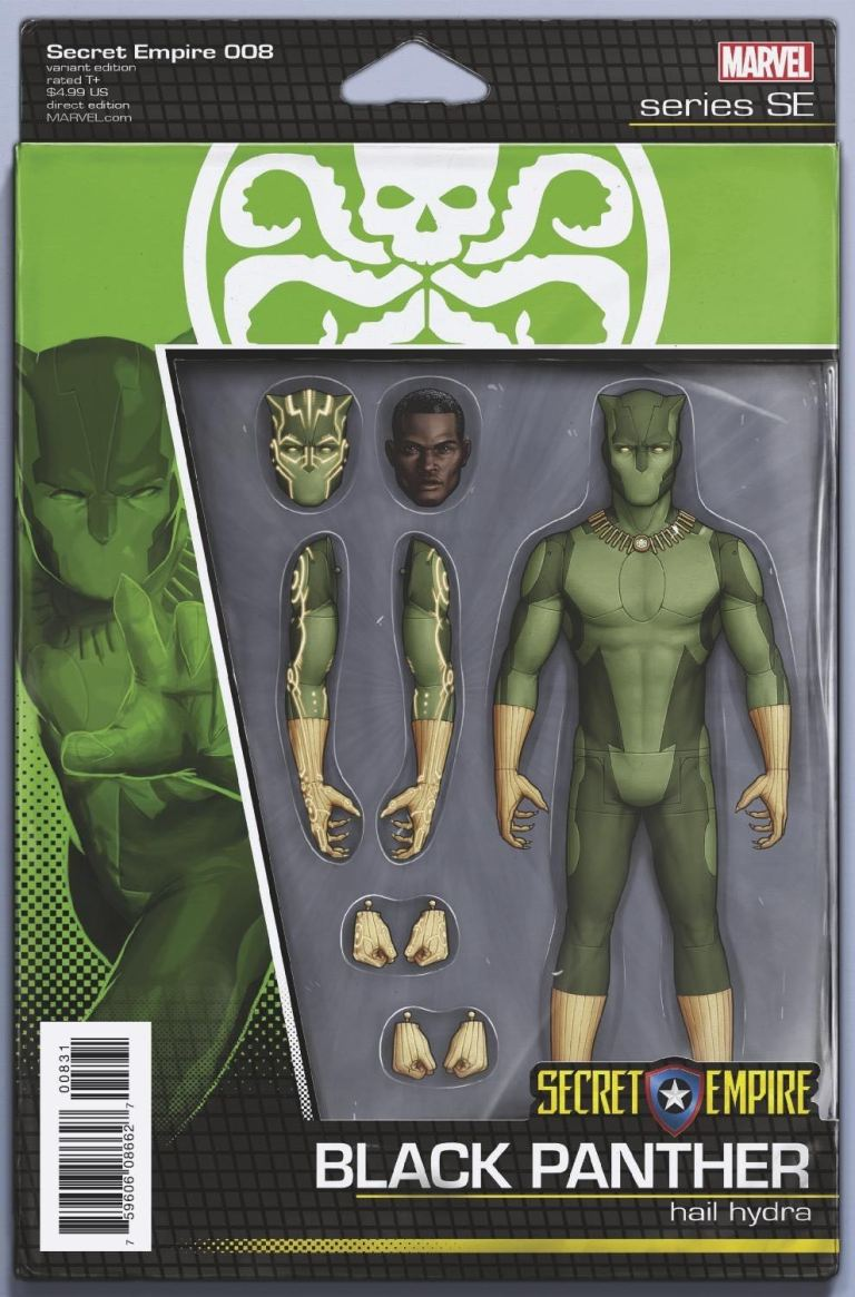 Secret Empire #8 (Cover E John Tyler Christopher Action Figure Variant)
