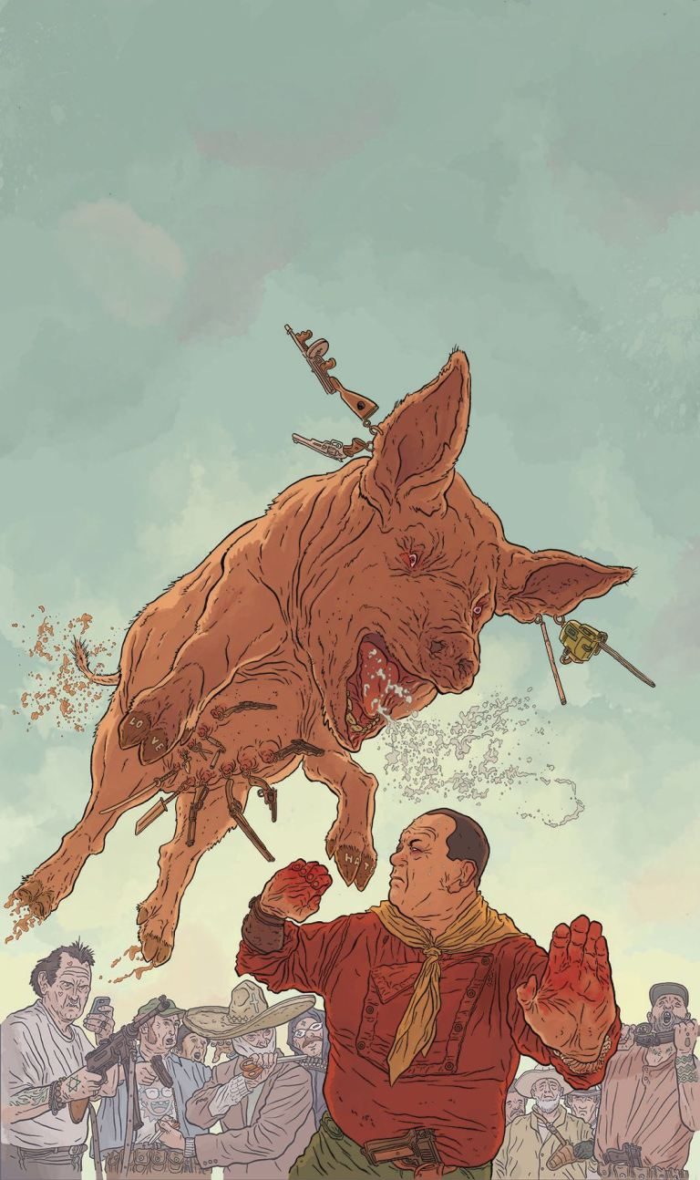 Shaolin Cowboy Who'll Stop The Reign #3 (Cover A Geof Darrow)