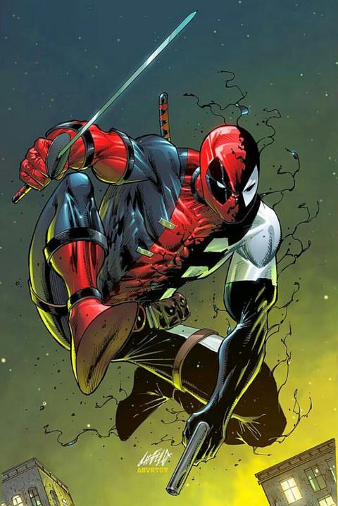 Deadpool Back In Black #1 (Rob Liefeild Variant Cover)