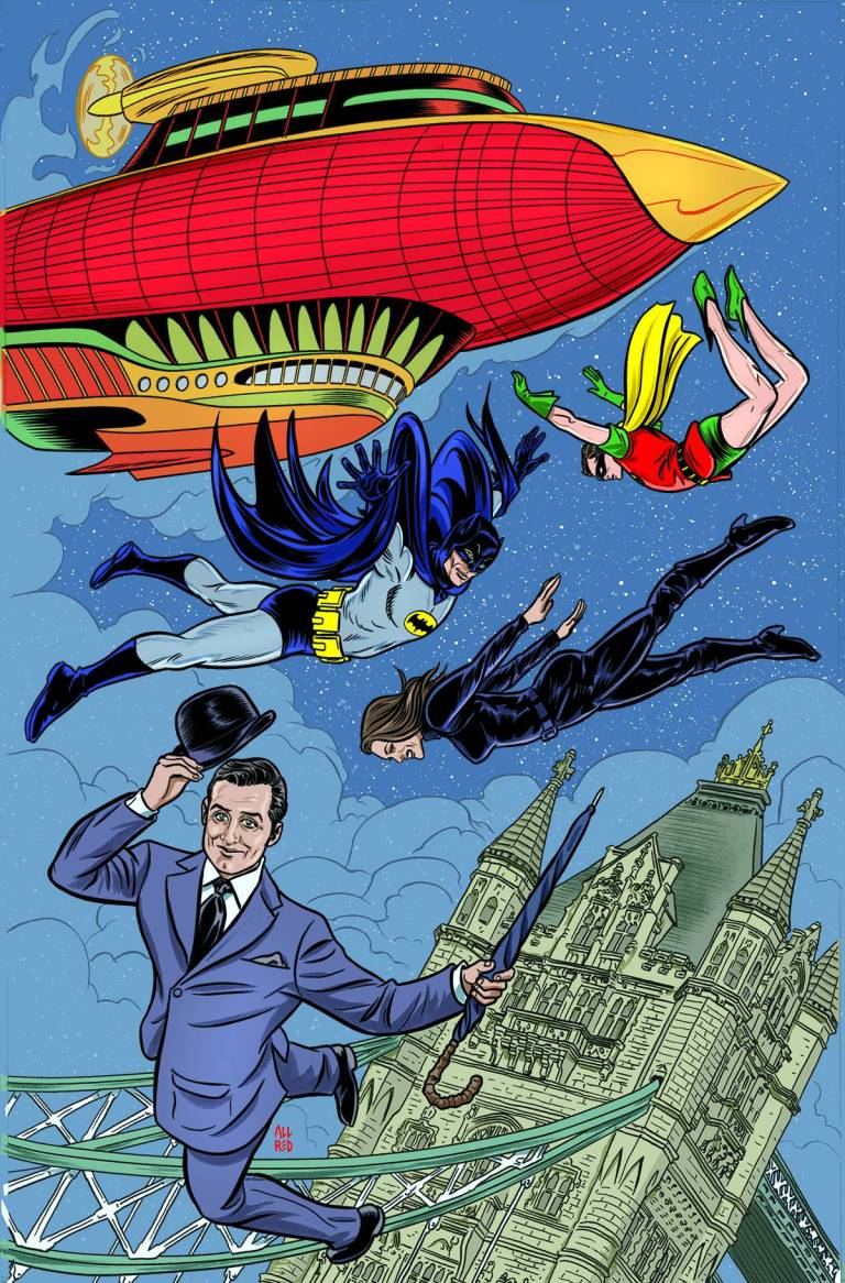 Batman '66 Meets Steed And Mrs. Peel #4 (Laura Allred & Mike Allred Cover)