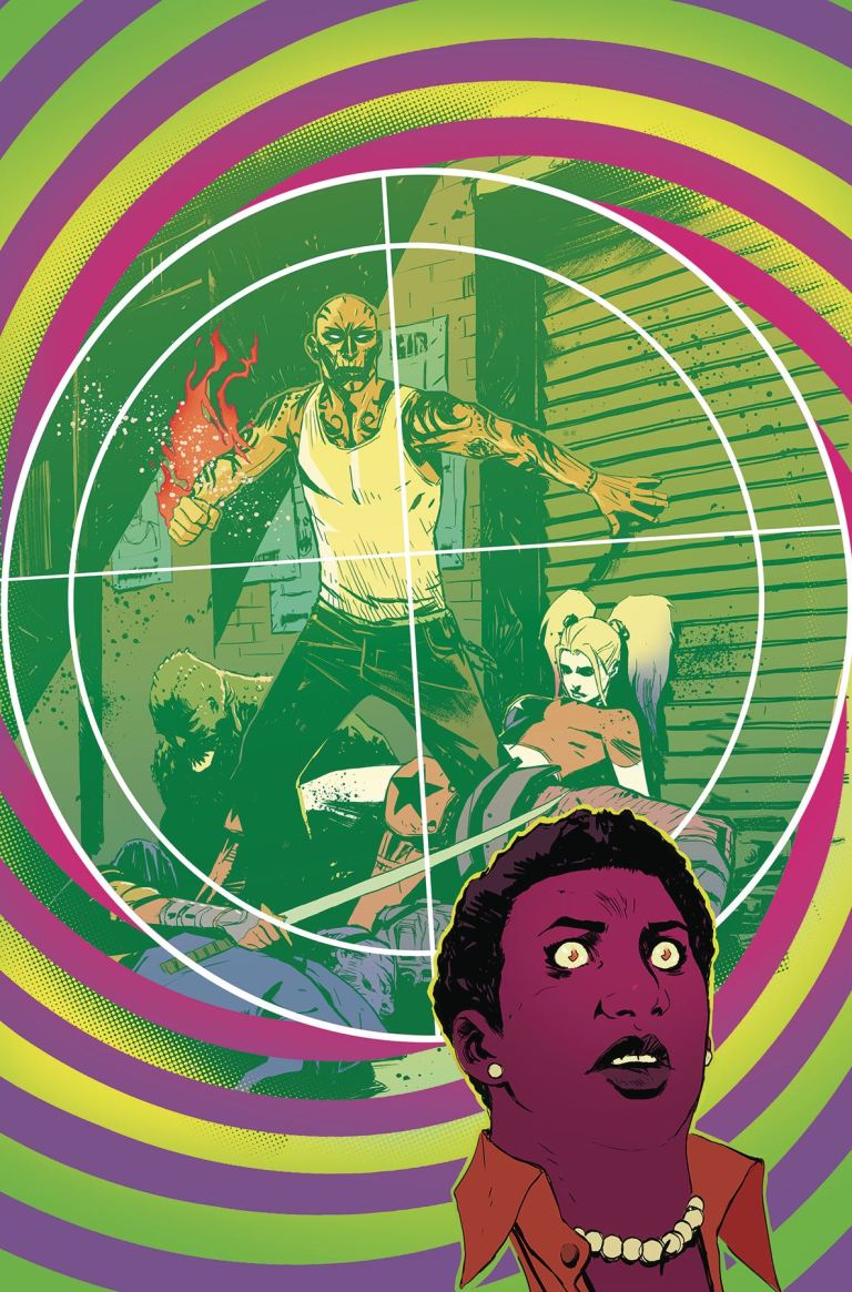 Suicide Squad Most Wanted El Diablo And Amanda Waller #6 (Mike Huddleston Cover)