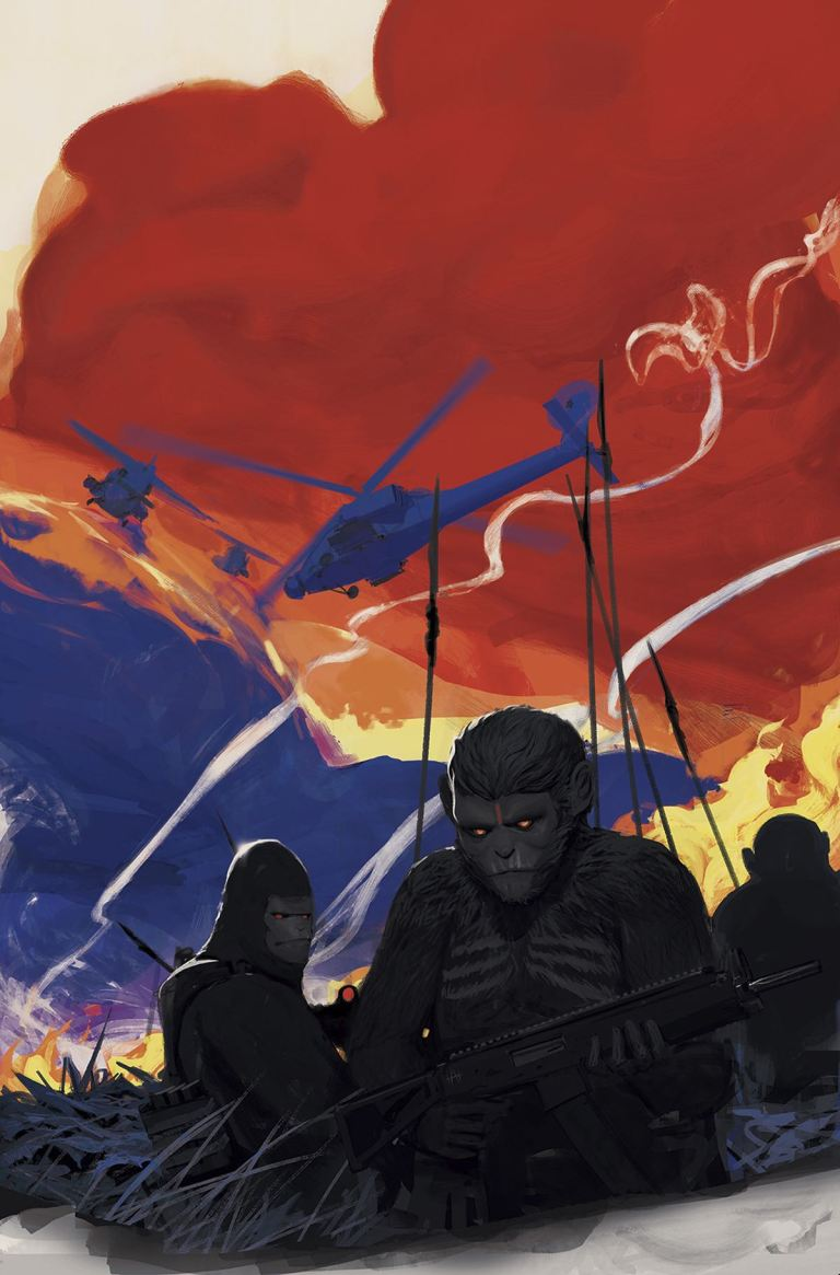 War For The Planet Of The Apes #1 (Cover A Mikhail Borulko)