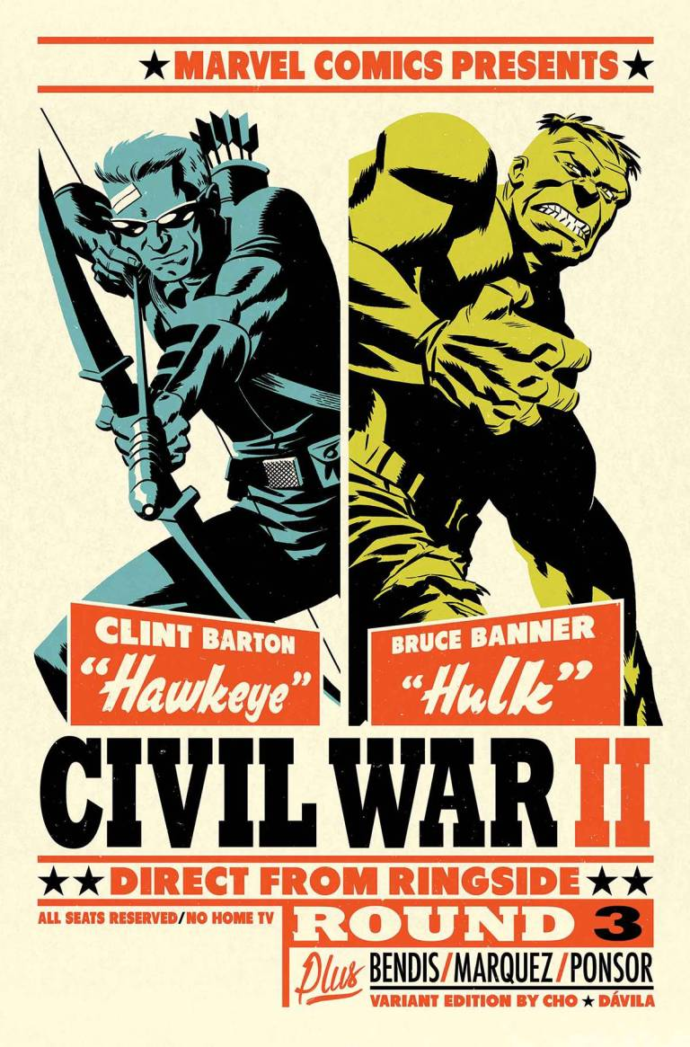Civil War II #4 (Micheal Cho Variant Cover)