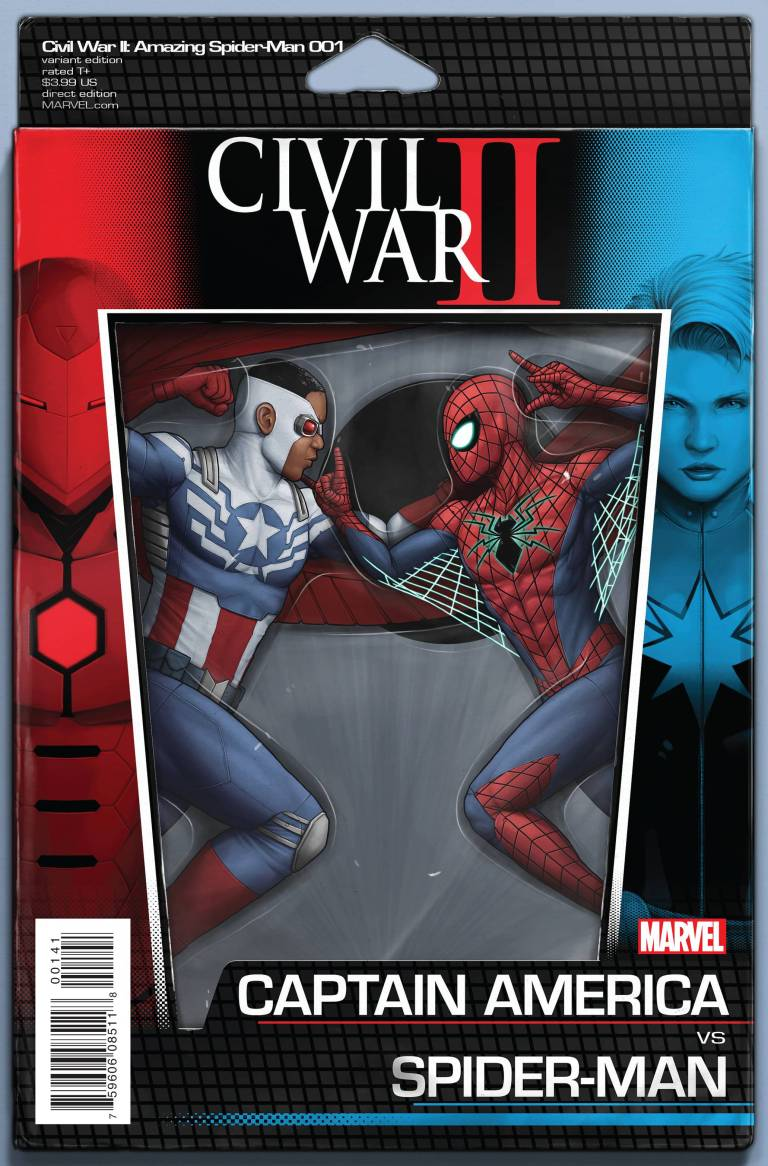 Civil War II Amazing Spider-Man #1 (John Tyler Christopher Action Figure Variant Cover)