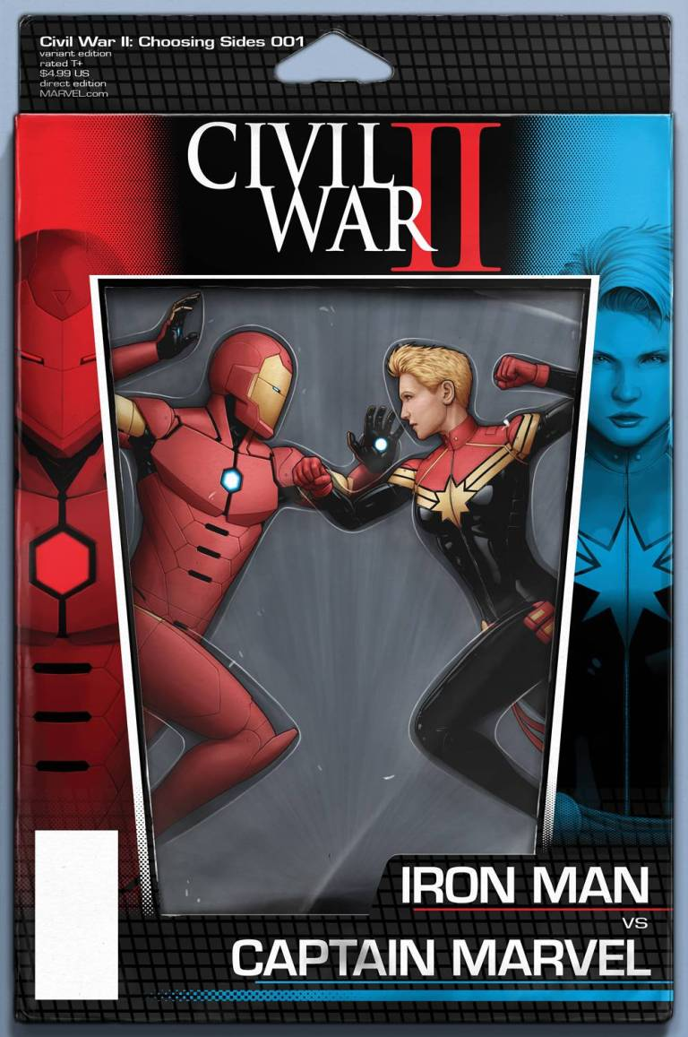Civil War II Choosing Sides #1 (Cover C John Tyler Christopher Action Figure Variant)
