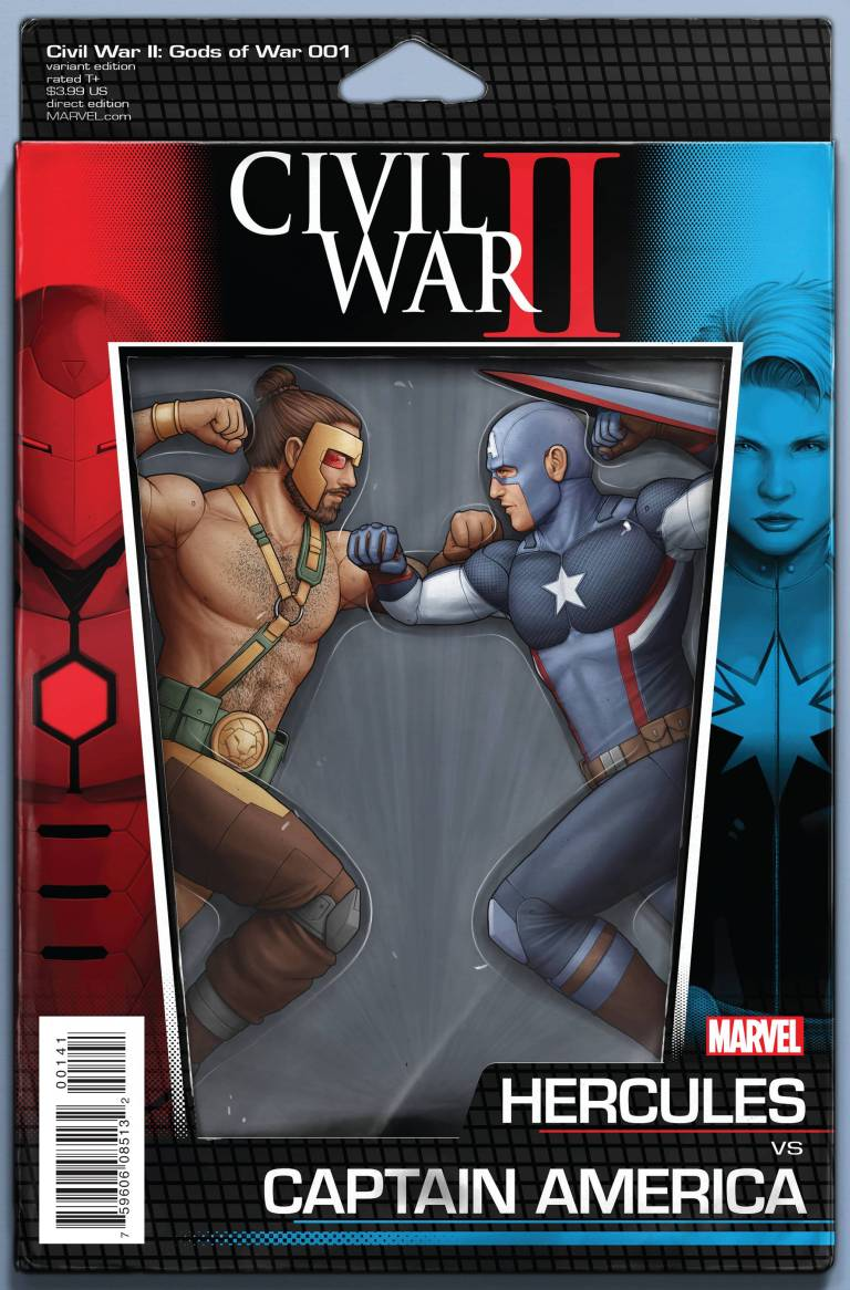 Civil War II Gods Of War #1 (John Tyler Christopher Action Figure Variant Cover)