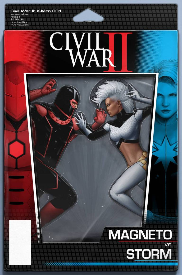 Civil War II X-Men #1 (John Tyler Christopher Action Figure Variant Cover)