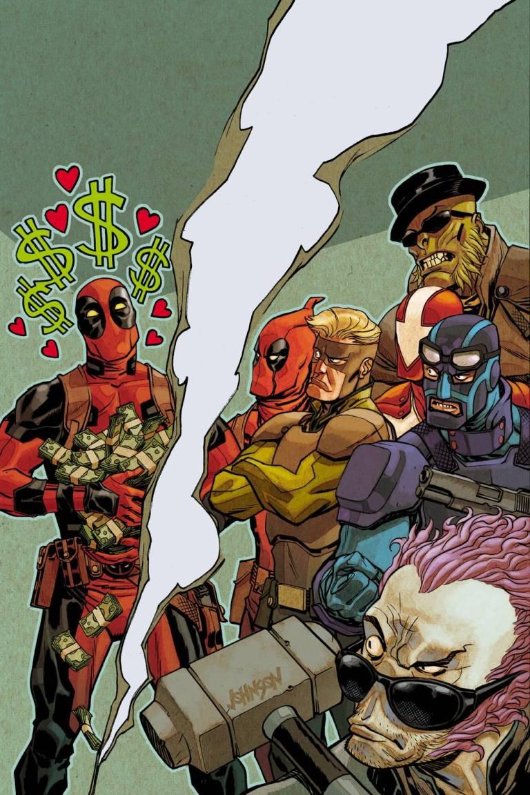 Deadpool And The Mercs For Money #4 (Cover B Dave Johnson Story Thus Far Variant)