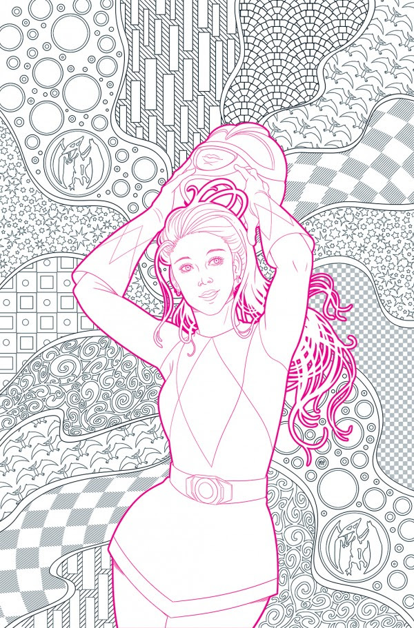 Mighty Morphin Power Rangers Pink #1 (Cover E Missy Pena Coloring Book Variant)